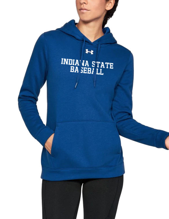 Indiana State Baseball Women's Under Armour Hustle Fleece Hoody