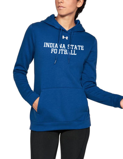 Indiana State Football Women's Under Armour Hustle Fleece Hoody