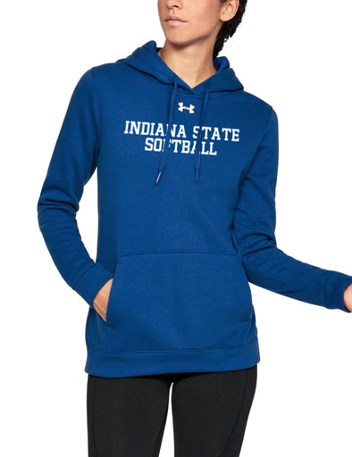 Indiana State Softball Women's Under Armour Hustle Fleece Hoody
