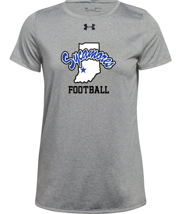 Women's Indiana State Sycamores Football Under Armour® Locker Tee 2.0