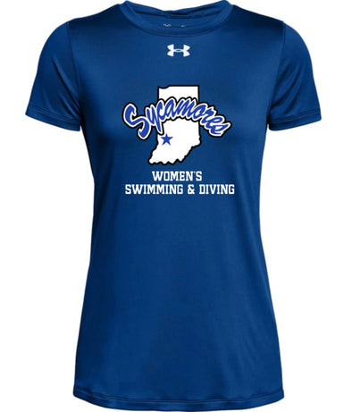 Women's Indiana State Sycamores Women's Swimming & Diving Under Armour® Locker Tee 2.0