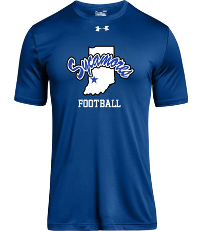 Men's Sycamores Football Under Armour® Locker Tee 2.0