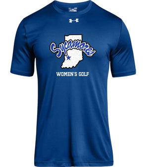 Men's Sycamores Women's Golf Under Armour® Locker Tee 2.0