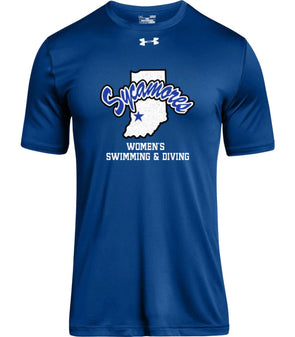 Men's Sycamores Women's Swimming & Diving Under Armour® Locker Tee 2.0