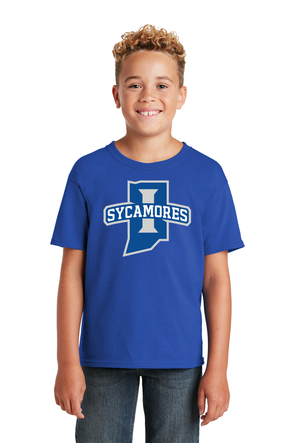 New Sycamores JERZEES® - Youth Dri-Power® Active 50/50 Cotton/Poly T-Shirt