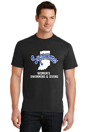 Port & Company® Sycamores Women's Swimming & Diving Core Blend Tee