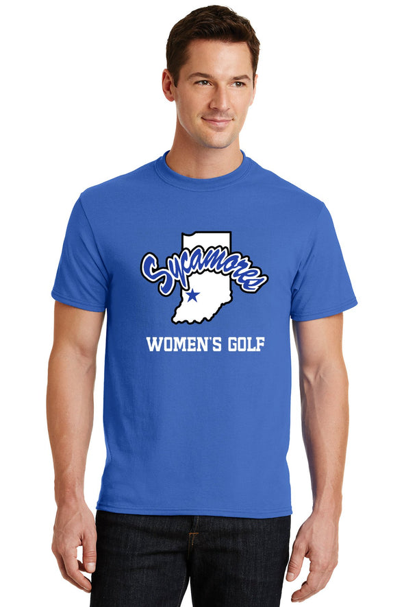 Port & Company® Sycamores Women's Golf Core Blend Tee