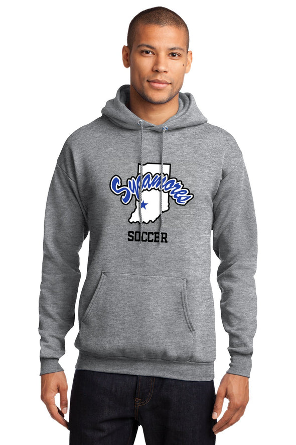 Port & Company® Sycamores Soccer Essential Fleece Hooded Sweatshirt
