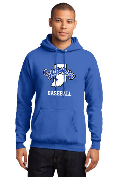 Port & Company® Sycamores Baseball Essential Fleece Hooded Sweatshirt
