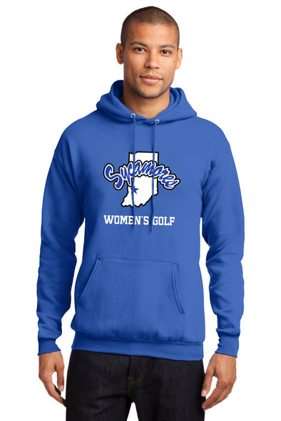 Port & Company® Sycamores Women's Golf Essential Fleece Hooded Sweatshirt