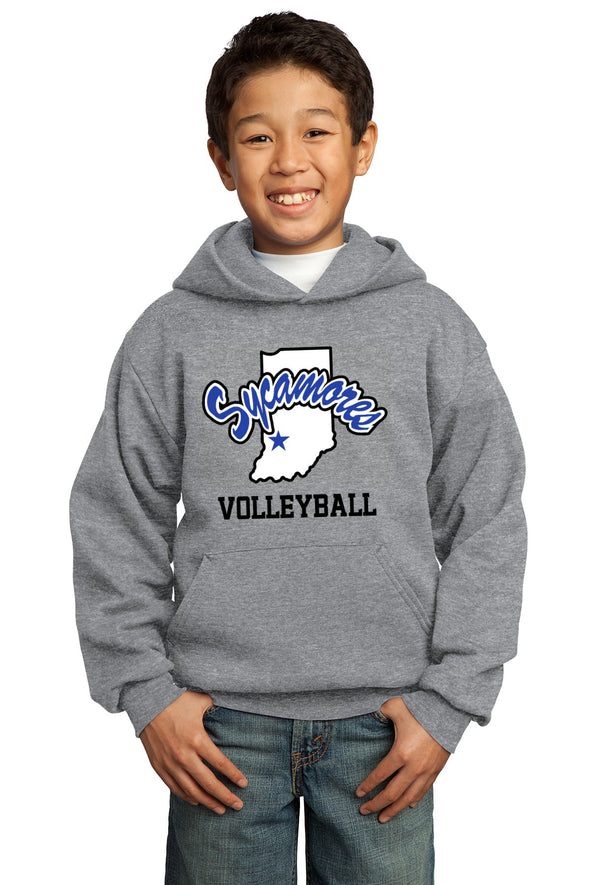 Port & Company® Youth Sycamores Volleyball Core Fleece Hooded Sweatshirt