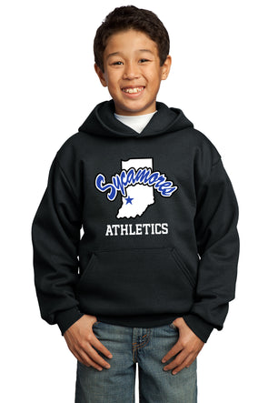 Port & Company® Youth Sycamores Athletics Core Fleece Hooded Sweatshirt
