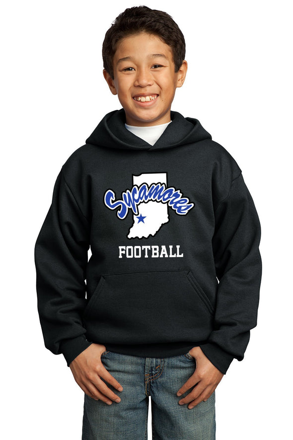 Port & Company® Youth Sycamores Football Core Fleece Hooded Sweatshirt