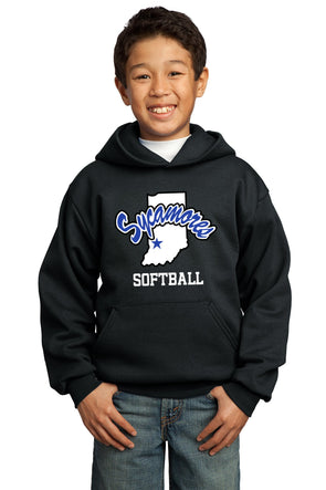 Port & Company® Youth Sycamores Softball Core Fleece Hooded Sweatshirt