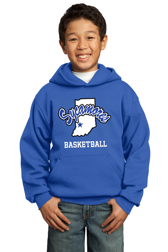 Port & Company® Youth Sycamores Basketball Core Fleece Hooded Sweatshirt