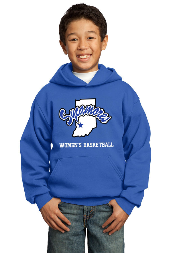 Port & Company® Youth Sycamores Women's Basketball Core Fleece Hooded Sweatshirt