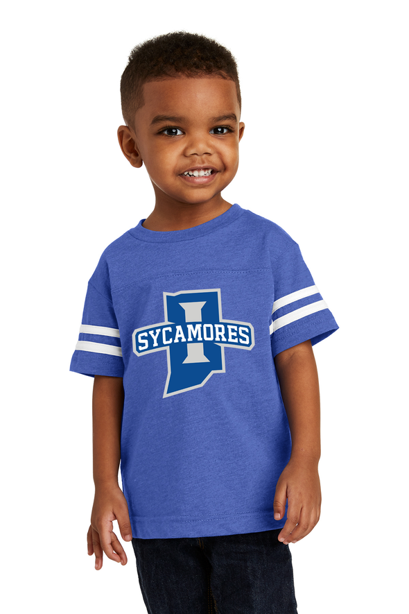 New Sycamores Rabbit Skins ™ Toddler Football Fine Jersey Tee