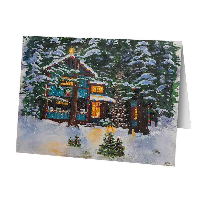 Camp Christmas Card- Imagine (5 cards)