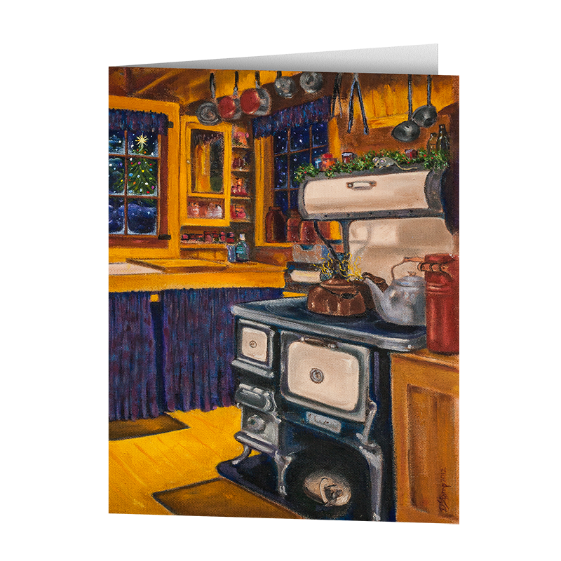 Camp Christmas Card- Camp Kitchen (5 Cards)