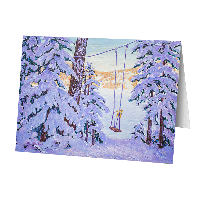 Camp Christmas Card-The Swing (5 Cards)