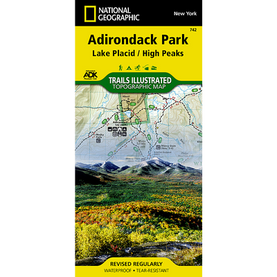 Map-742 Lake Placid / High Peaks Area