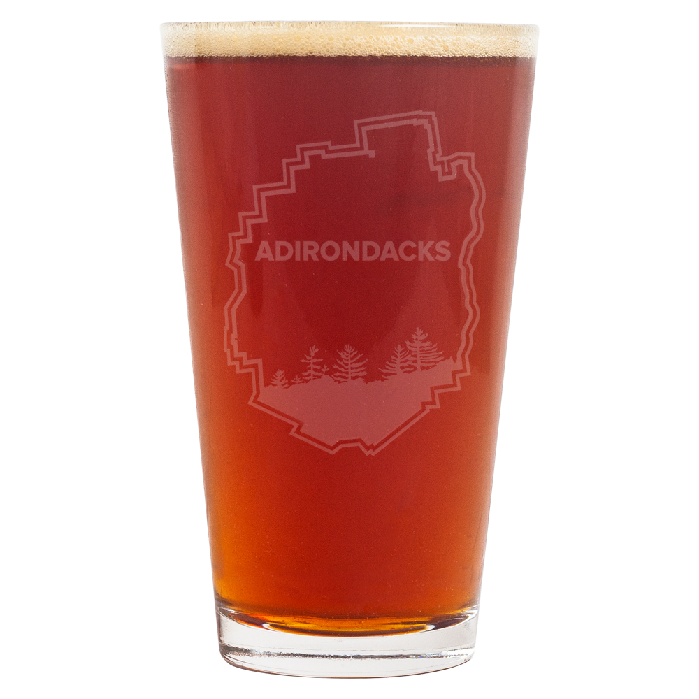 Adirondack Park Border Pint Glass