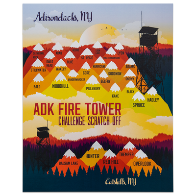 ADK Fire Tower Challenge Scratch-Off