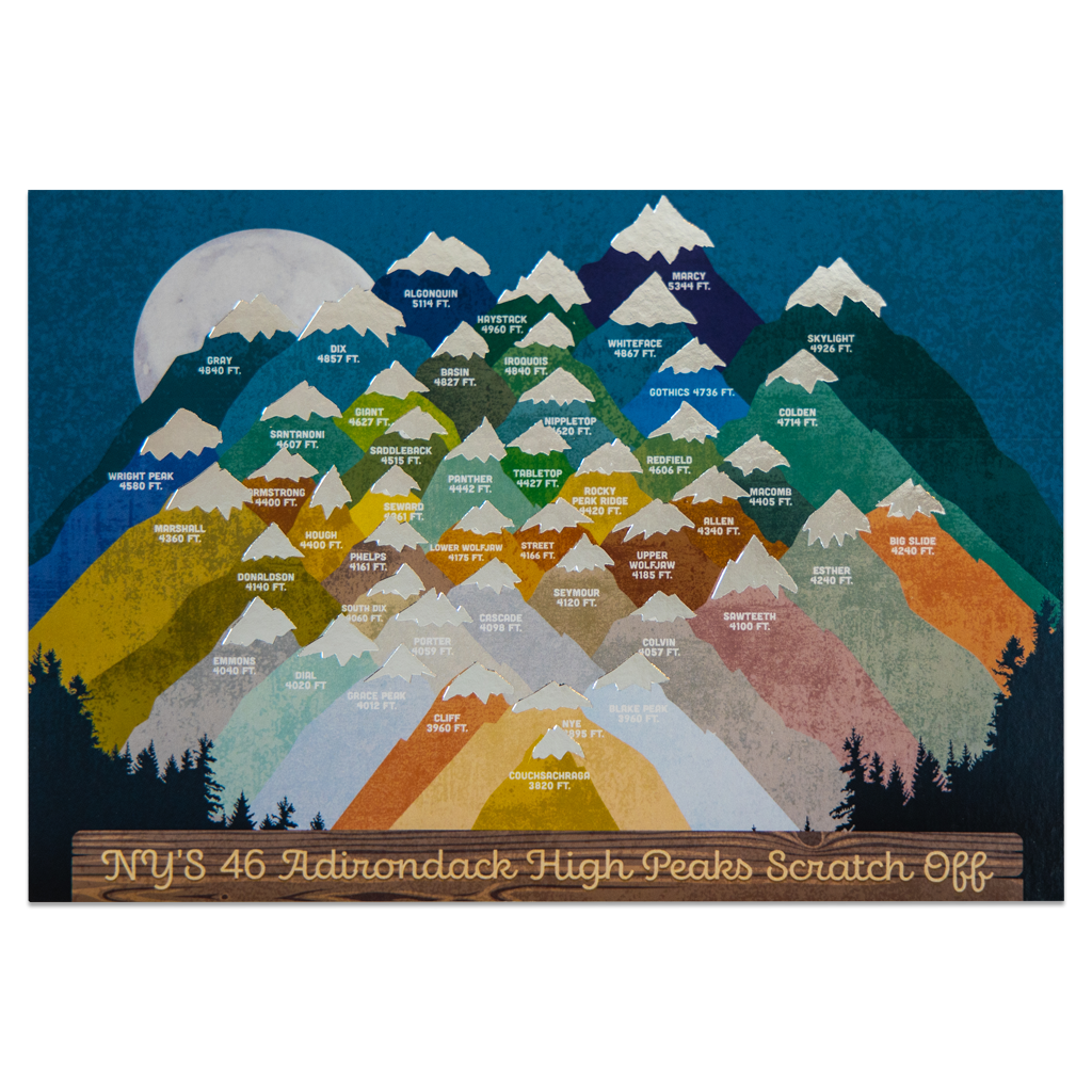 ADK High Peaks Night Challenge Scratch-Off