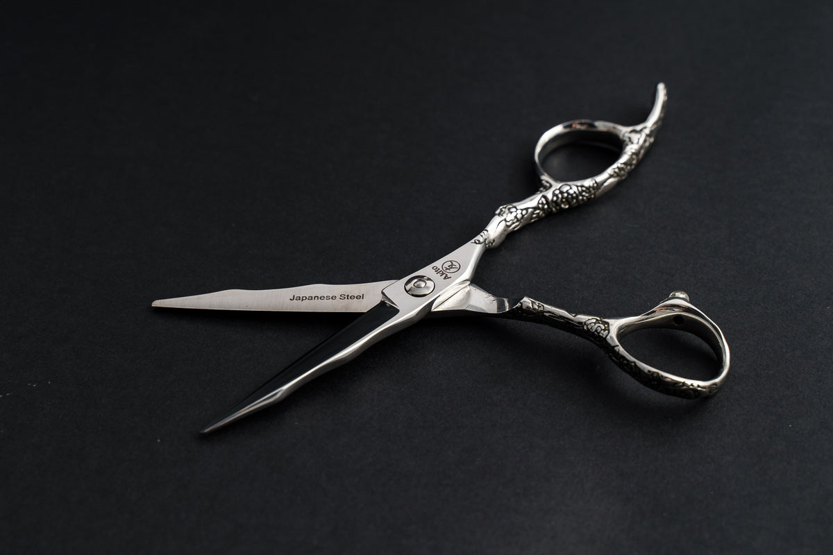 X-1 Professional Hairdressing & Barbering Scissor open revealing Japanese Steel