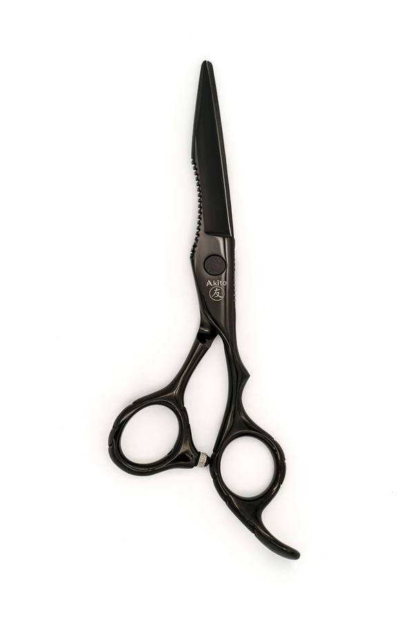 Silver Akito X-5B Hairdressing and Barber Scissors handmade from Japanese Steel