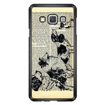 Vintage Dog on Paper Samsung Galaxy A3 2015 Case - Sixtyninecase