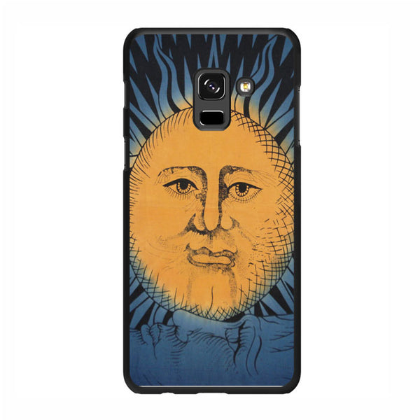 Vintage Sun Moon Painting Art Samsung Galaxy A5 2018 Case - Sixtyninecase