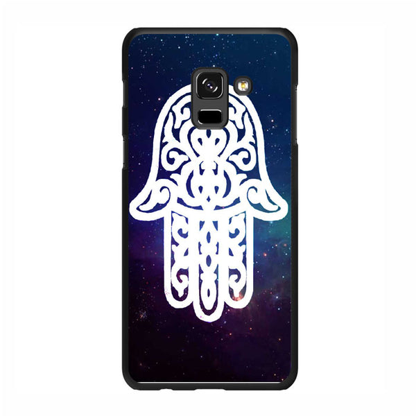 White Galaxy Chamsa Hamsa Hand Of God Samsung Galaxy A7 2018 Case - Sixtyninecase