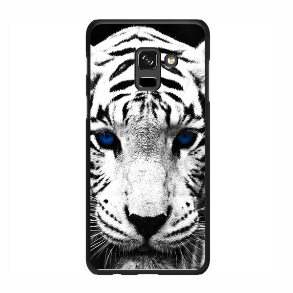 White Tiger Blue Eyes Samsung Galaxy A5 2018 Case - Sixtyninecase