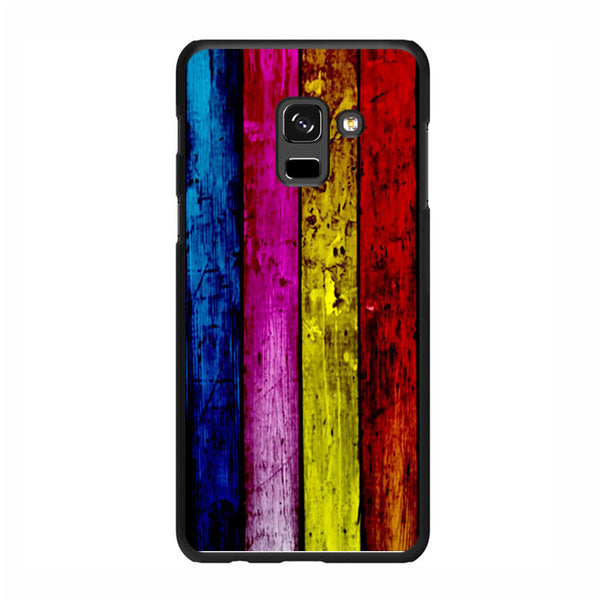 Wood Rainbow Samsung Galaxy A7 2018 Case - Sixtyninecase