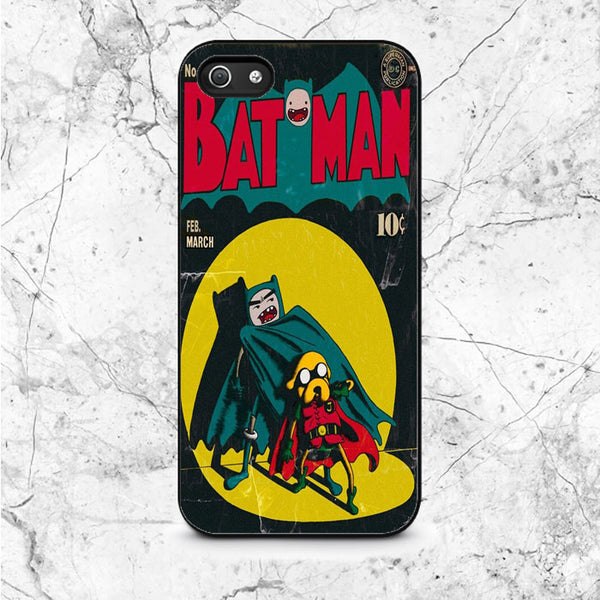 Adventure Time Batman And Robin Comic iPhone 5|5S|SE Case