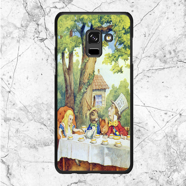 Alice In Wonderland Mad Hatters Tea Party Samsung Galaxy A8 2018 Case