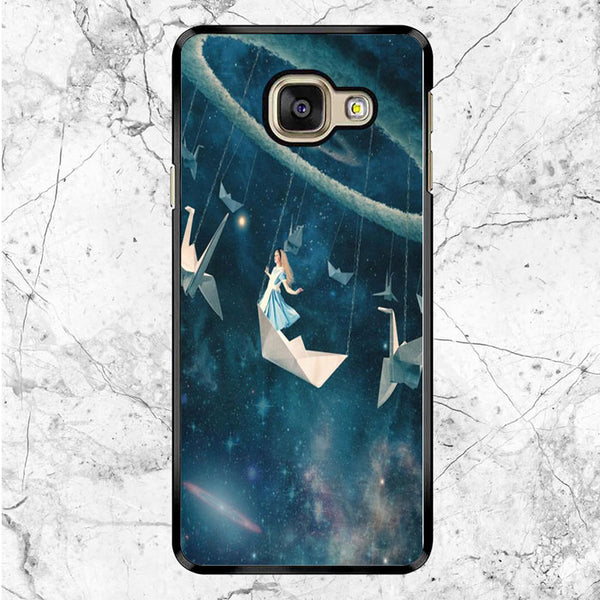 Alice In Wonderland Paper Boat Samsung Galaxy A9 Pro Case
