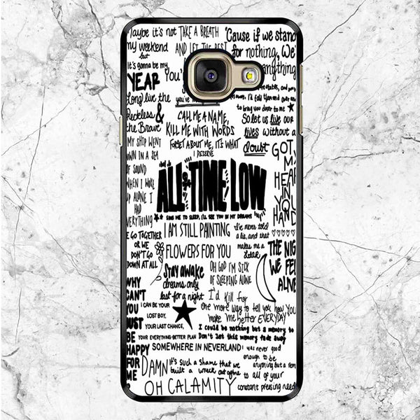 All Time Low Quote Song Samsung Galaxy A9 Pro Case