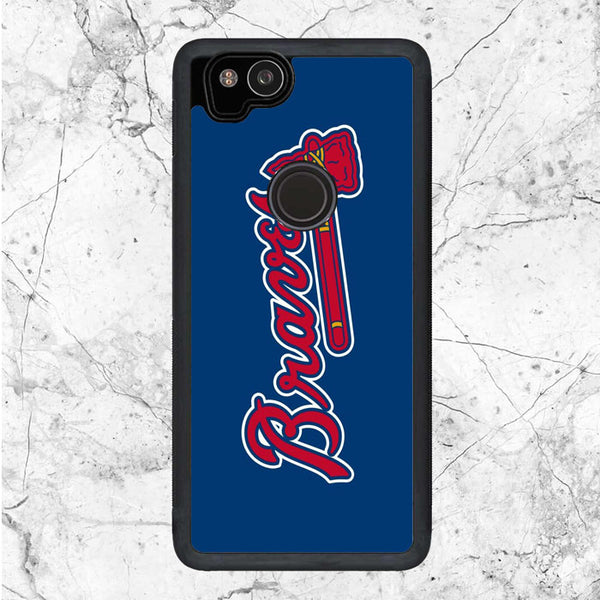 Atlanta Braves Red Blue Logo Google Pixel 2 Case | Sixtyninecase