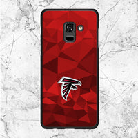 Atlanta Falcons Red Geometric Samsung Galaxy A8 2018 Case