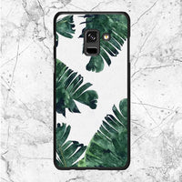 Banana Leaf Art Samsung Galaxy A8 Plus 2018 Case
