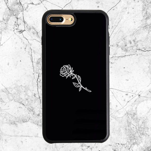 Black White Flower Rose Art iPhone 8 Plus Case | Sixtyninecase