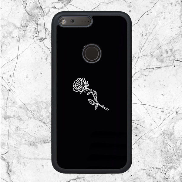 Black White Flower Rose Art Google Pixel XL Case | Sixtyninecase