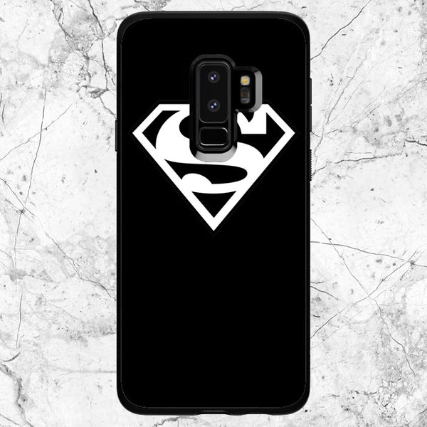 Black White Superman Logo Samsung Galaxy S9 Case | Sixtyninecase
