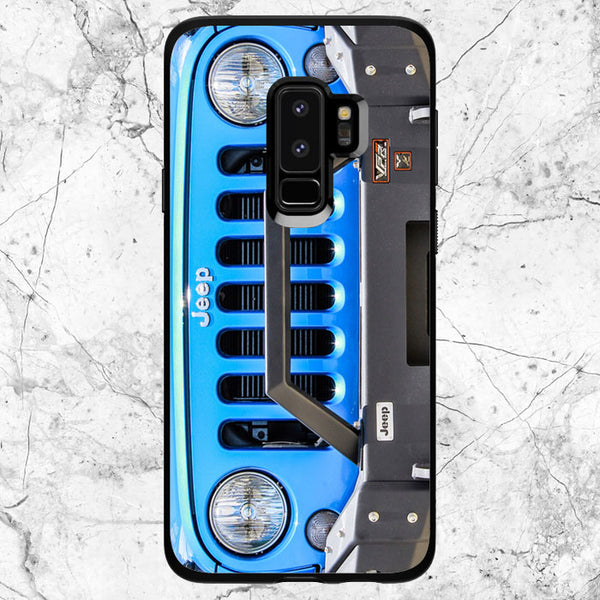 Blue Jeep Wrangler Samsung Galaxy S9 Plus Case