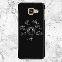 Bts Signatures Samsung Galaxy A8 2017 Case