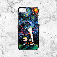 Calvin And Hobbes Starry Night iphone case