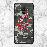 Camouflage Snake Design Samsung Galaxy A8 Plus 2018 Case
