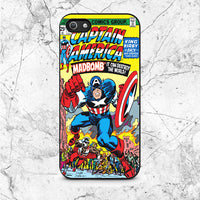 Captain America Madbomb Book Cover iPhone 5|5S|SE Case
